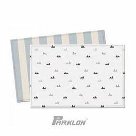 【淘氣寶寶】韓國 Parklon帕龍-PVC雙面包邊地墊(遊戲墊) 藍夏慕尼款 190*130*1.2