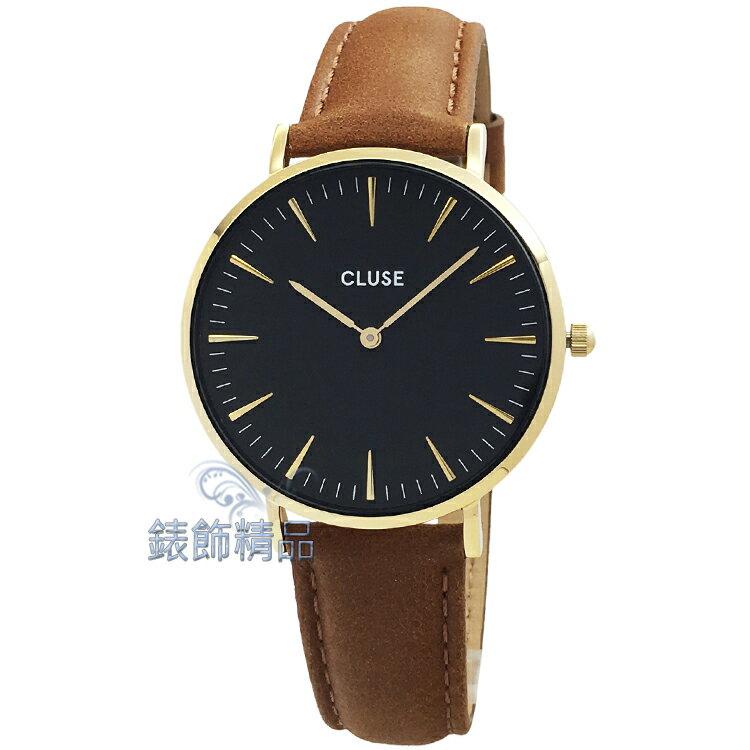 ~錶飾 ~CLUSE手錶 CL18404 金色黑色  焦糖色38mm荷蘭優雅極簡腕錶