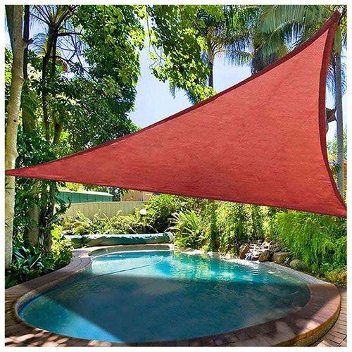 11 5 Triangle Sun Shade Sail Garden Yard Canopy Shelter Pool Uv Blocking Red 0