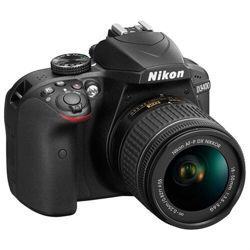 "Nikon D3400 24.2 Megapixel Digital SLR Camera with Lens - 18 mm - 55 mm (Lens 1), 70 mm - 300 mm (Lens 2) - Black - 3"" LCD - 16:9 - 3.1x/4.3x Optical Zoom - Optical (IS) - TTL - 6000 x 4000 Image - 1920 x 1080 Video - HDMI - HD Movie Mode - Wireless LAN 3"