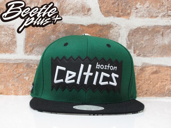 BEETLE PLUS MITCHELL&NESS X BAIT X NBA CELTICS SNAPBACK 波士頓賽爾堤克 黑綠 聯名 後扣棒球帽 0