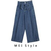 牛仔寬褲推薦到MEI Style 復古牛仔綁帶高腰寬褲【G17SDB005】+ 追 加 +就在MEI Style 美力推薦牛仔寬褲Cosplay