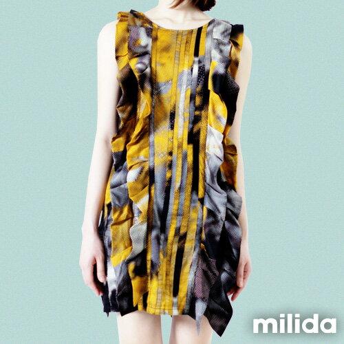 【Milida,全店七折免運】-夏季洋裝-無袖款-造型洋裝 2