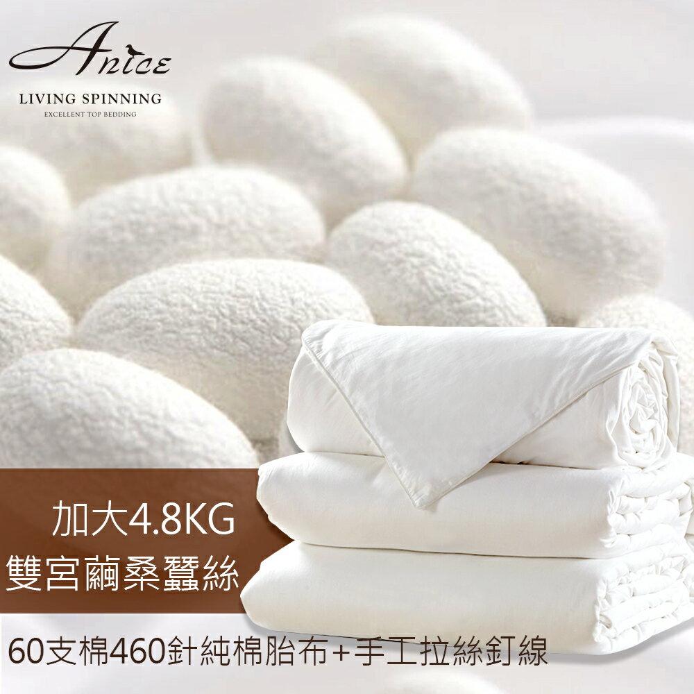 (加贈被套) 頂級雙宮繭桑蠶絲被-加大保暖(4.8kg)《CNS+國家品質認證。滿意保證》A-nice