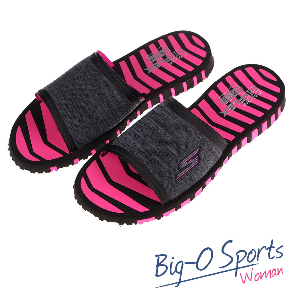 SKECHERS GO FLEX  休閒拖鞋  女 14260BKHP   Big-O Sports