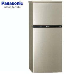 Panasonic 國際 NR-B139T-R 冰箱 130L 亮彩金 VIP真空斷熱材
