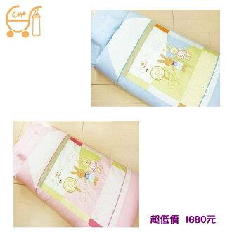 *美馨兒* 東京西川 GMP Baby冬夏兩用抗蹣菌幼童睡袋/兒童睡袋[童話兔](二色可挑)1680元