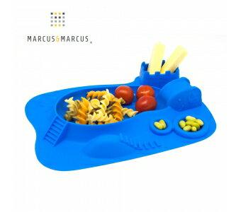 加拿大 MARCUS  MARCUS 動物樂園遊樂 餐盤-河馬(藍)★愛兒麗婦幼用品★