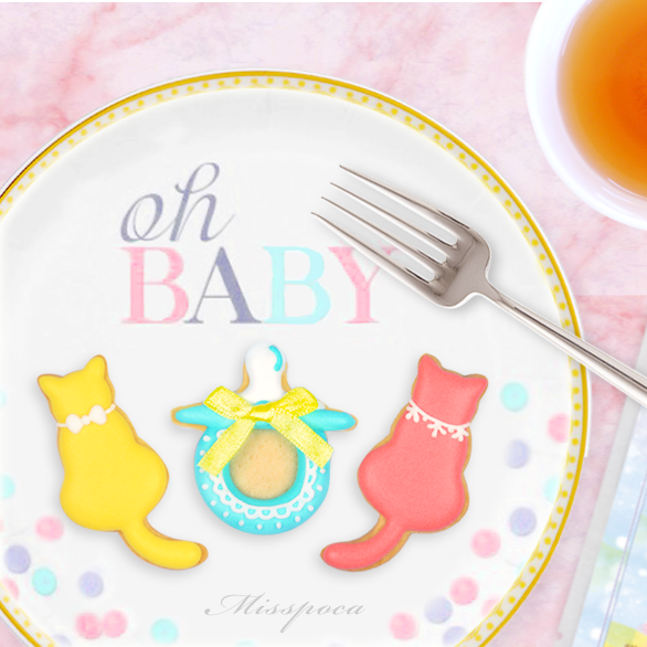 《貓痴茶》浪漫滿屋法式彌月禮盒 翹嘴嘴糖霜餅乾 貓?御守茶包 彌月蛋糕