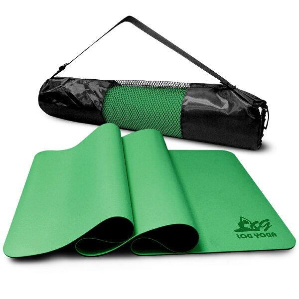 LOG樂格:LOGYOGA樂格環保無毒PU專業款瑜珈墊-綠色(厚度0.5cm)