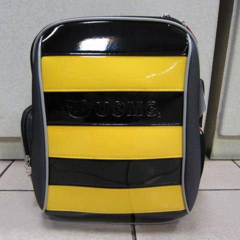 ~雪黛屋~UNME 小蜜蜂護脊透氣書包 超輕防水尼龍布材質 加強保護脊椎設計正版授權 #3096黃