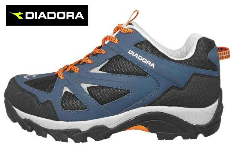 【巷子屋】義大利國寶鞋-DIADORA迪亞多納 男款防潑水寬楦戶外運動鞋 [3716] 藍 超值價$899