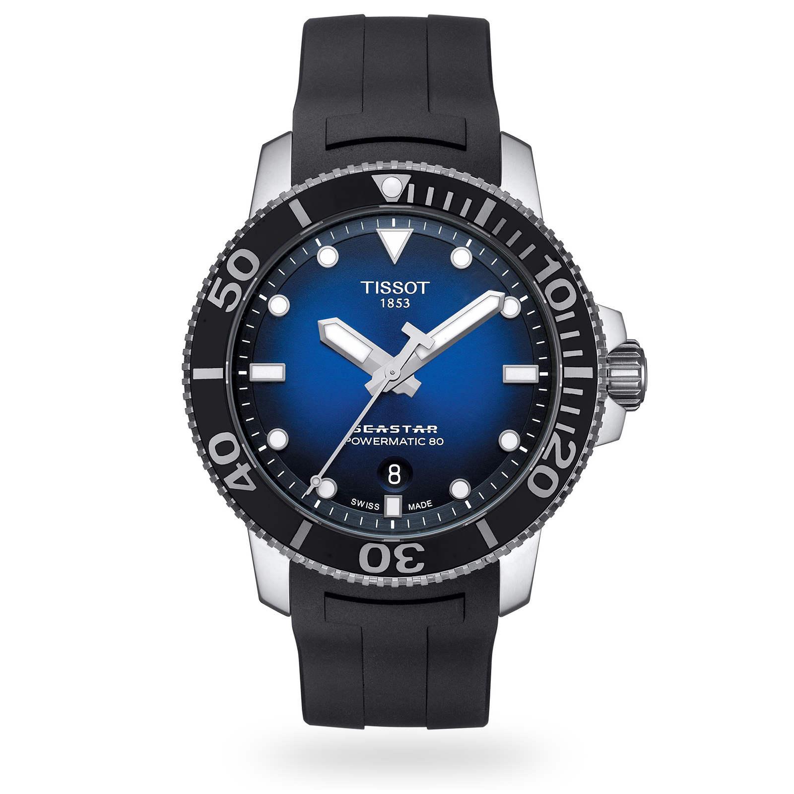 TISSOT 天梭 T1204071704100 Seastar 1000 陶瓷圈 海洋之星300米潛水機械錶 黑 藍 43mm【8 / 15前↘領券再9折,優惠券碼: 2008CP2000B 】 1