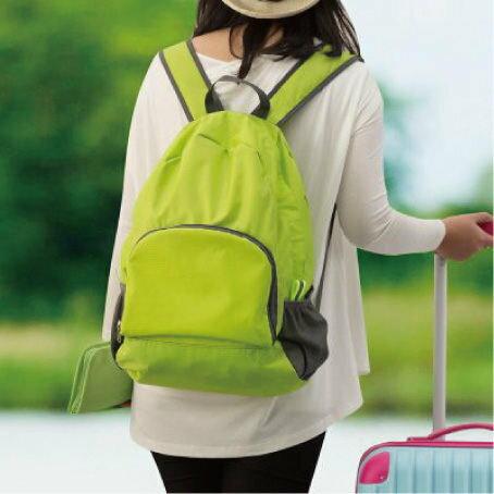 大容量旅行折疊雙肩背包 多 可折疊雙肩包 收納背包~櫻桃飾品~ ~25299~