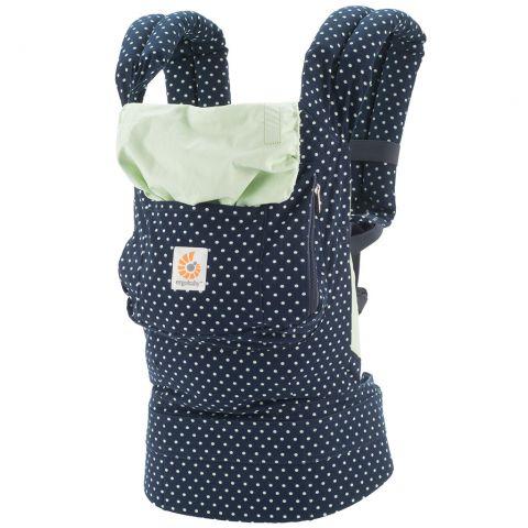 【淘氣寶寶】美國 Ergo Baby ergobaby Carrier 爾哥寶寶揹帶/揹巾/背巾(原創款*薄荷圓點)【贈美國製醫療香草奶嘴3顆】