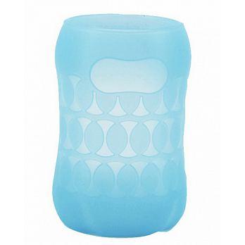日本【Pigeon貝親】寬口玻璃奶瓶保護套160ml(藍粉)