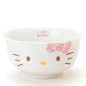 日本直送 Sanrio 三麗鷗 Hello Kitty 大頭可愛造型 美濃燒 瓷碗
