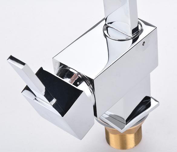 Contemporary Kitchen Bar / Bathroom Vessel Sink Faucet Swivel Spout 5