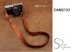 [滿3千,10%點數回饋]【Cam.in】潮流相機背帶 型號:CAM2133   真皮可調式相機背帶  顏色:棕色