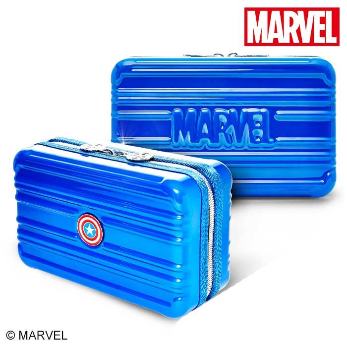 【加賀皮件】DESENO Marvel 漫威復仇者 硬殼旅遊多功能盥洗包 化妝包 航空包 美國隊長 TYL30001
