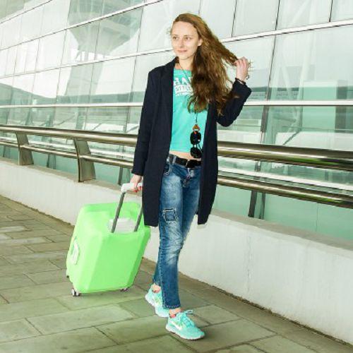 【超取299免運】S號糖果色彈力行李箱保護套 (適合18~20吋) 拉桿旅行箱防塵罩 加厚耐磨