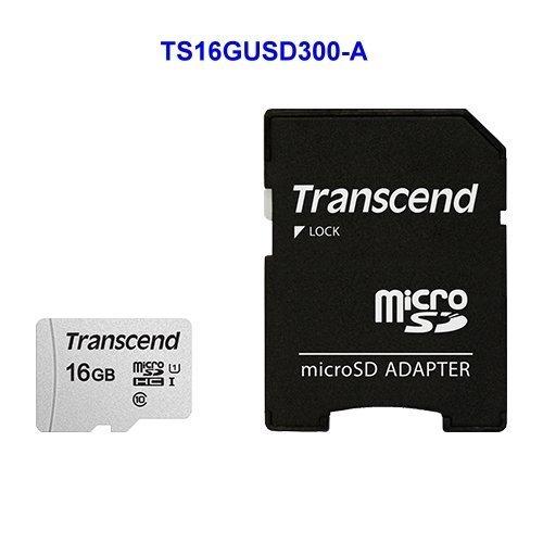 【新風尚潮流】創見 手機用 記憶卡 16GB Micro-SD 讀95MB C10 U1 TS16GUSD300S-A