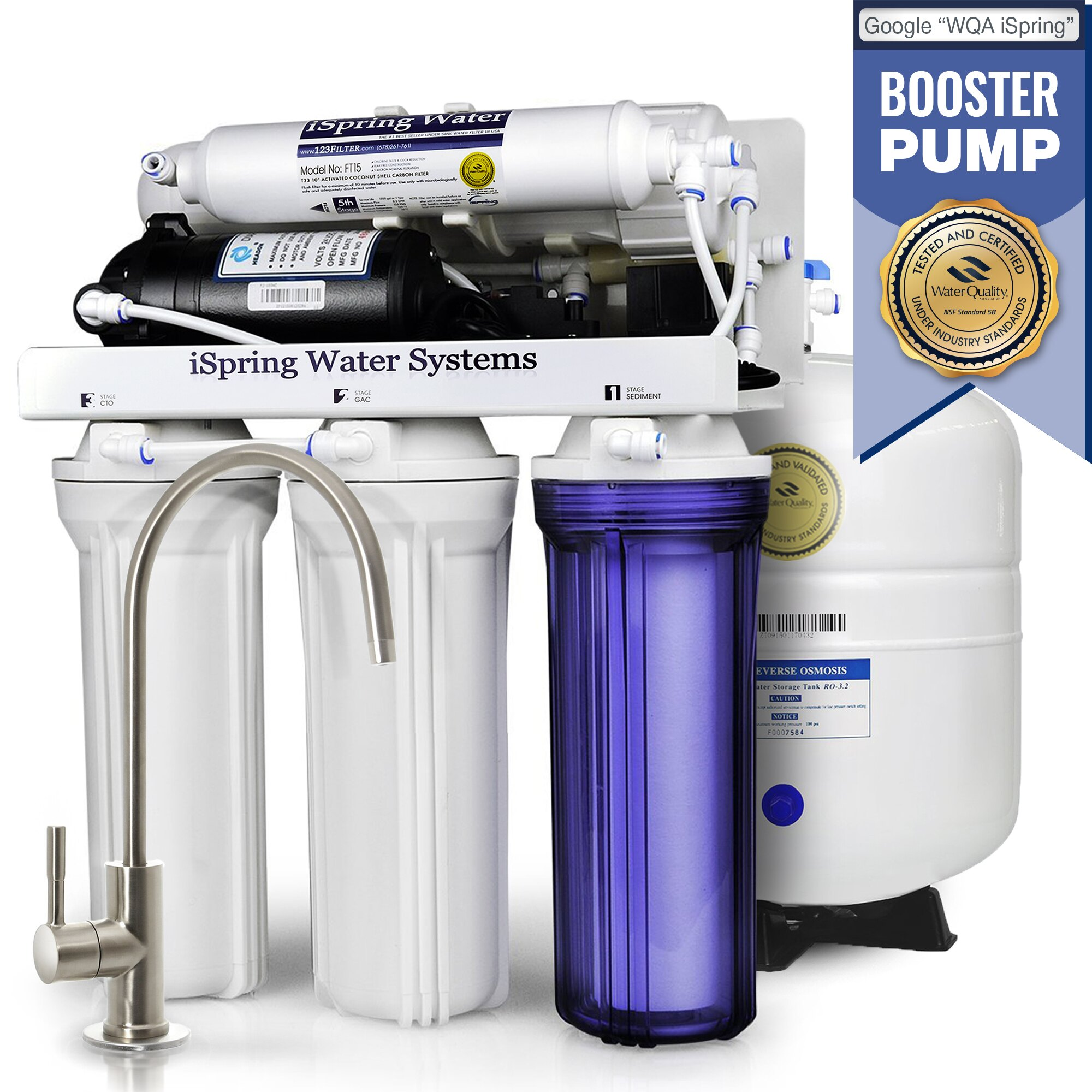 ispring water systems ispring 5 stage 75gpd reverse osmosis filter