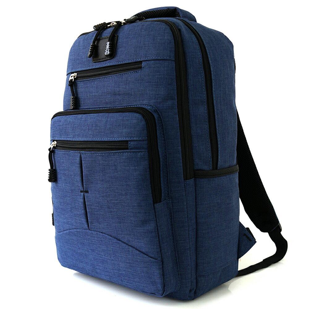 韓風簡約防水後背包 (休閒 大容量 時尚 雙層 多口袋 NEW STAR BK244 1