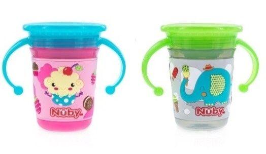 Nuby 3D 360度喝水杯 240ml (6M ) ~121婦嬰用品館~