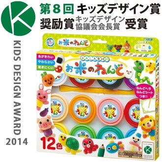 日本進口 銀鳥 GINCHO 無毒米黏土 12色 玩具 兒童 生日 安全 美勞 遊戲 *夏日微風*