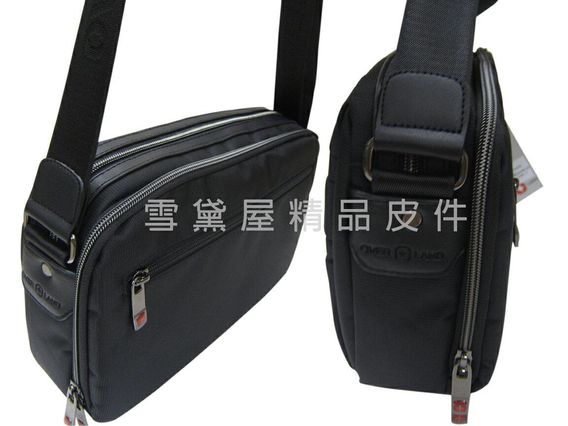 限時 滿3千賺10%點數↘ | ~雪黛屋~OVER-LAND 肩側包中容量二層主袋隨身物品專用輕巧中性款男女適用防水尼龍布材質多袋口設計T5223