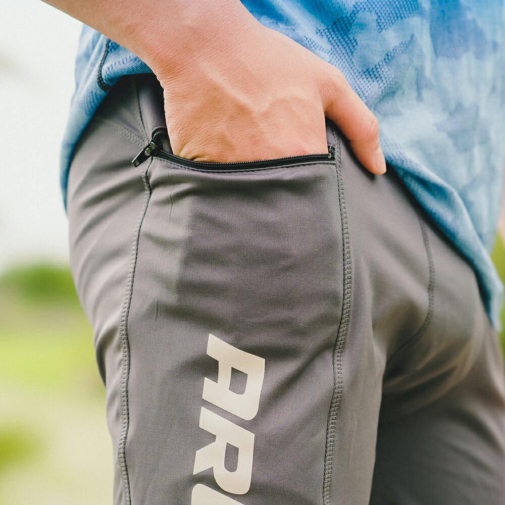 AREXSPORT機能收納男收腹彈力吸排高腰緊身運動褲 AS-7157 黑 S~2L (健身 / 健走 / 戶外休閒 / 重訓 / 瑜珈) 4