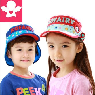 WallFree窩自在★MINI ROBOT字母宇宙星球兒童護頸防曬遮陽棒球帽盆帽