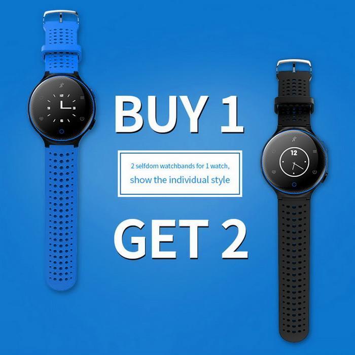Bluetooth Smart Watch Heart Rate Monitor Blood Pressure Waterproof Smartband 1
