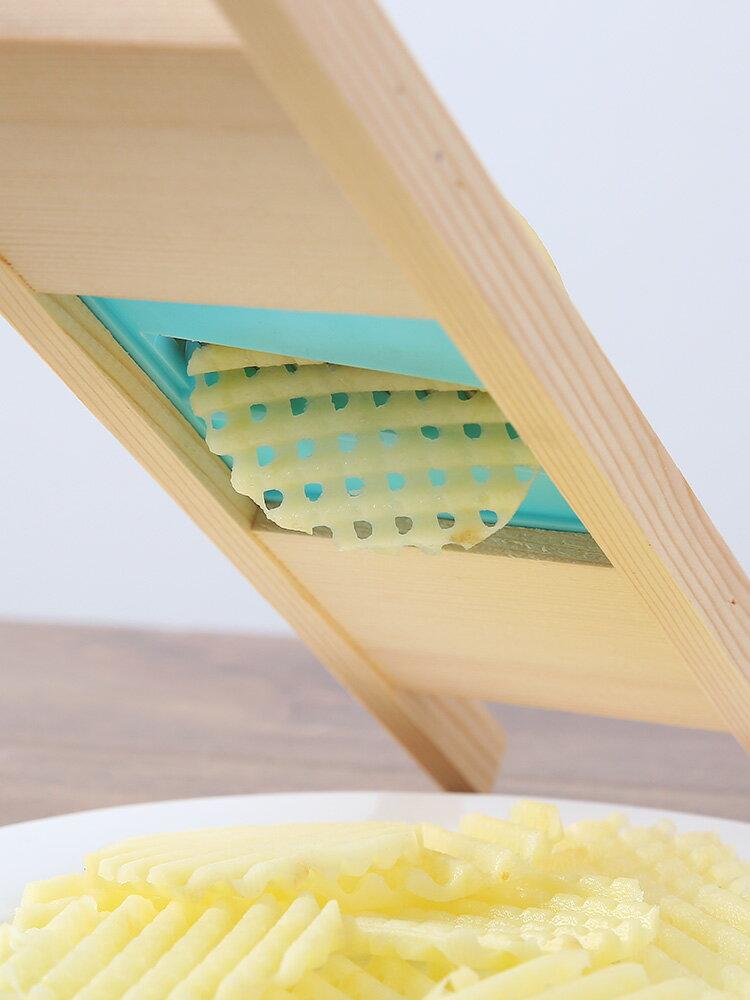 薯格擦家用薯格切片器廚房切土豆波紋浪花刀切菜器土豆切網花神器1入