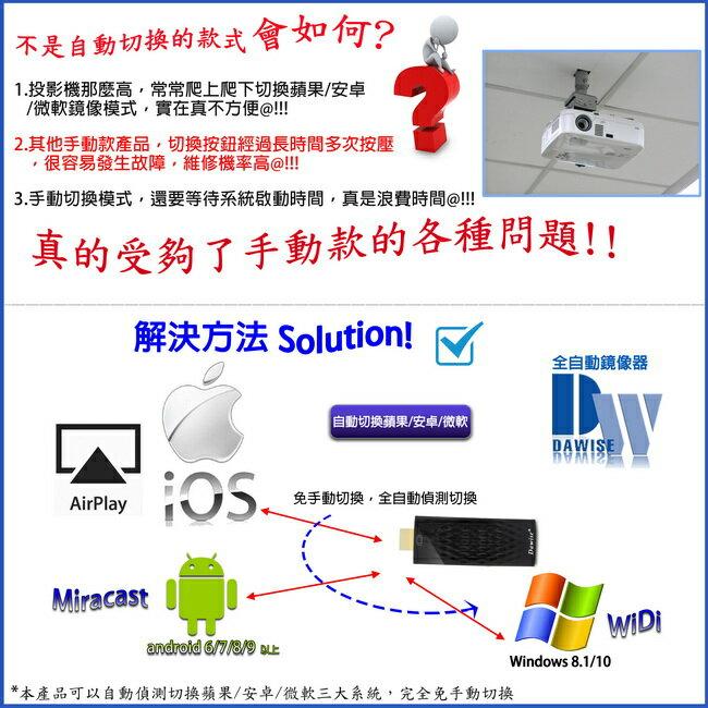 【2020年版】七代Dawise-34K全自動無線HDMI影音鏡像器(送4大好禮)