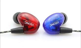 {音悅音響MUSIC HI-FI}VSONIC VSD2S 紅藍新版 耳道式耳機 公司貨