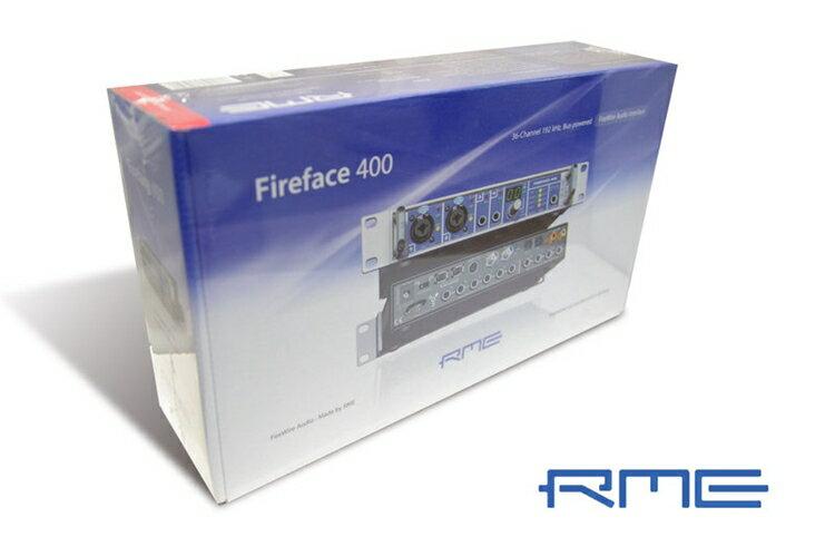 {音悅音響MUSIC HI-FI}(台灣總代理公司貨) RME FIREFACE 400 1394 電腦外接 專業錄音室 錄音界面 音效盒卡 德國製 Germany