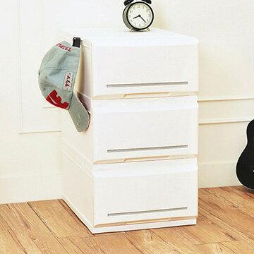 【nicegoods】邦妮組合式單層抽屜收納箱(單層18L)-3入組 (收納櫃 抽屜櫃 衣櫃 塑膠 整理箱)