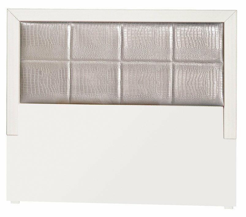 ~石川家居~CE~219~04 白色鱷魚皮3.5尺床頭片 ^(不含 ^) 需 車趟