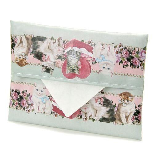 日本製貴族貓咪面紙套攜帶式防水tiffany藍984040