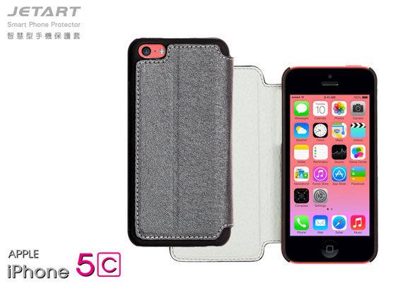 *╯新風尚潮流╭*JETART 捷藝 iPhone 5C 智慧型手機保護套 水貂紋路 PC 防摔材質 超強保護 SAG100