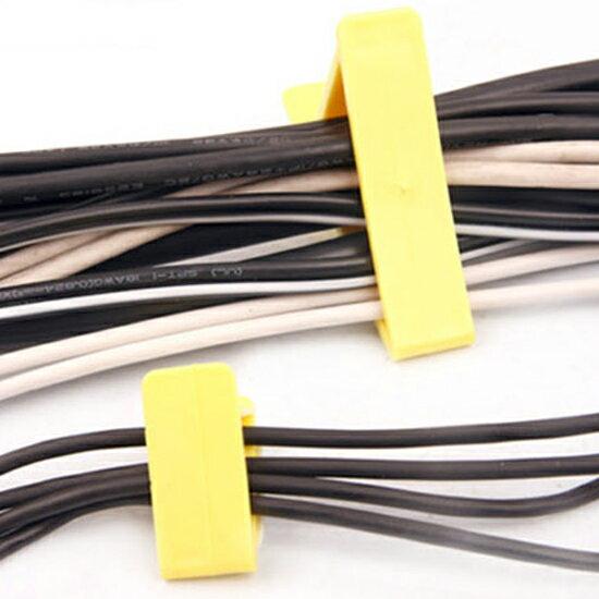 ♚MY COLOR♚電源線固線夾(4入) 捲線器 數據線 理線器 手機集線器 電線 收納夾 【K121】