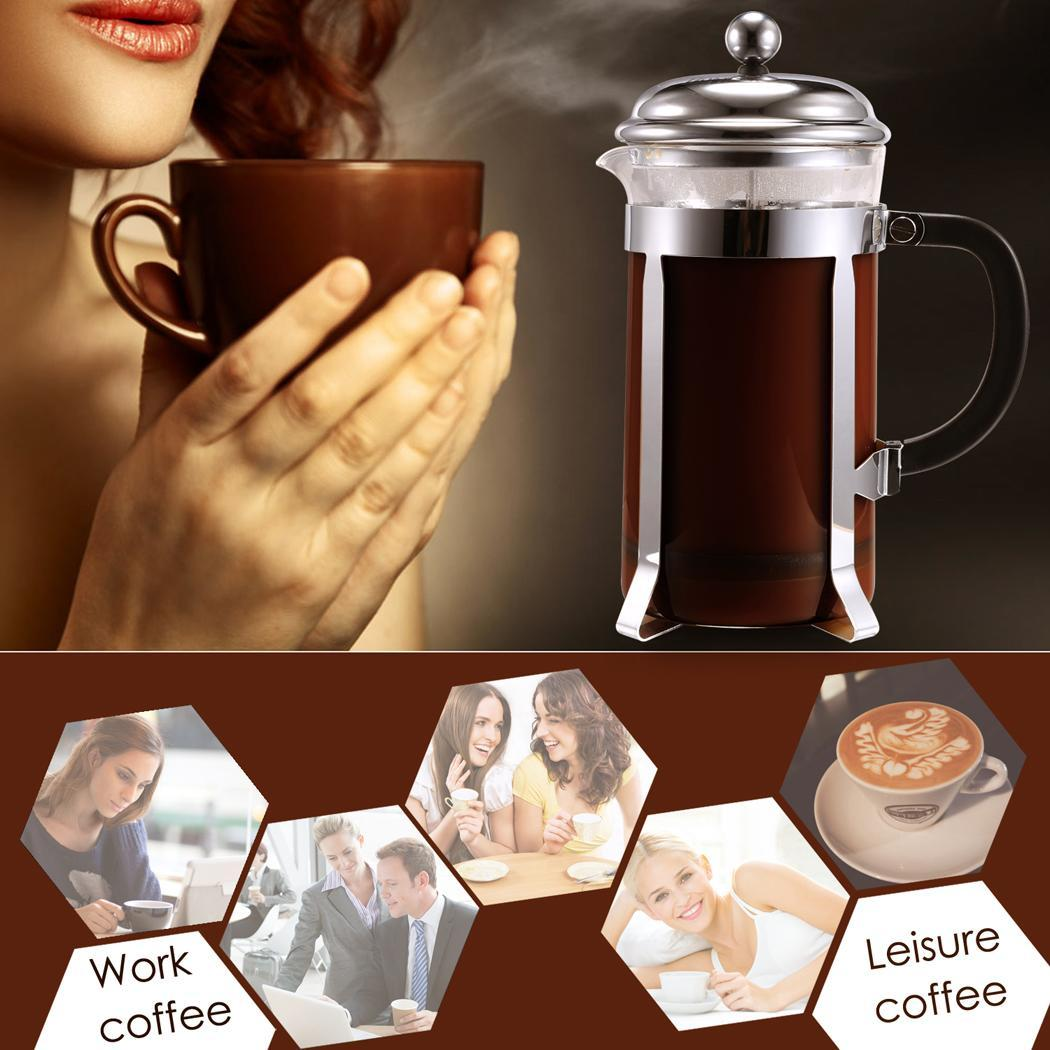 Stainless steel French coffee pot 1000ml 2