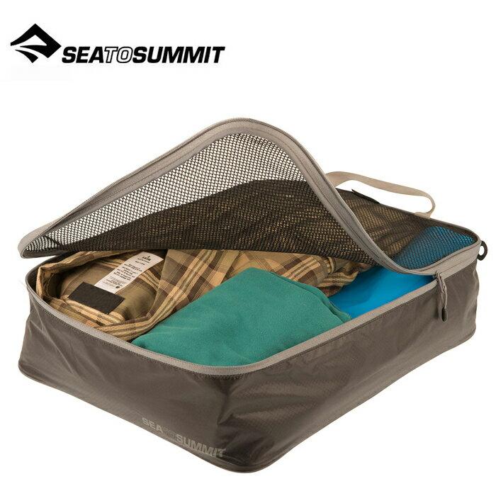 【Sea To Summit 澳洲】Travelling Light 旅行打理包 衣物打理包【M號】黑/淺灰 (ATLGMBM)