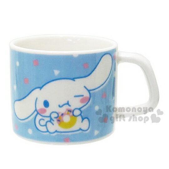〔小禮堂〕大耳狗 日製陶瓷迷你馬克杯《藍.點點.甜甜圈》日本金正瓷器