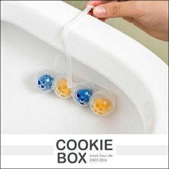 創意 懸掛式 廁所 馬桶 除臭劑 (隨機出貨) 清潔 除臭靈 潔廁靈 去汙 清潔球 二合一 *餅乾盒子*