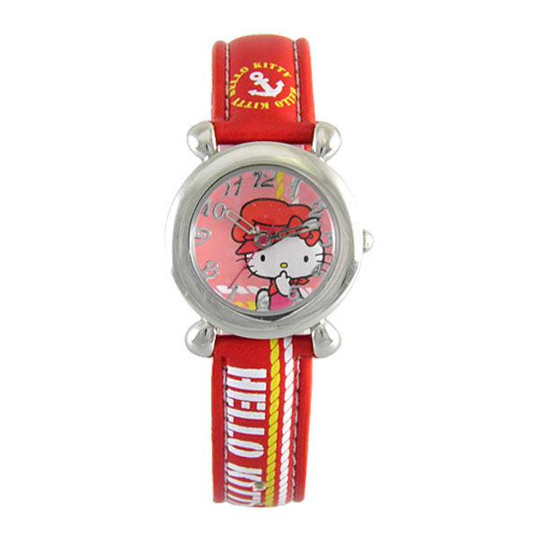 HelloKitty進口精品時尚手錶-快樂出航(紅)-HKFR152-03A