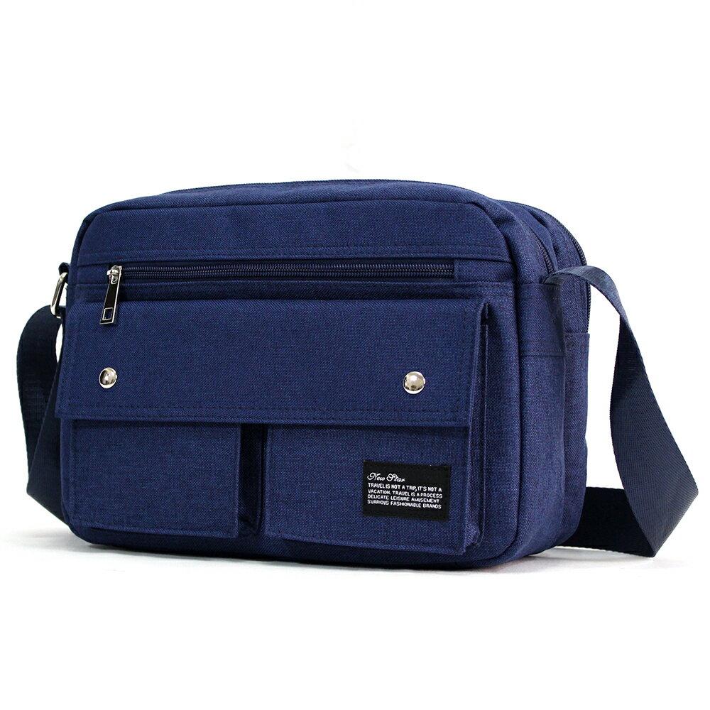 經典雙口袋雙層側背包 (日系 防水 機能 斜背包  NEW STAR BL133 1