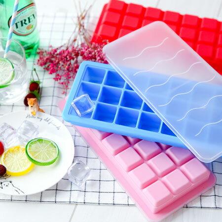 21格矽膠製冰盒 冰塊盒 冰棒盒 製冰盒 雪糕模具 製冰模具 食品級矽膠 夏日 夏天 DIY【B062885】